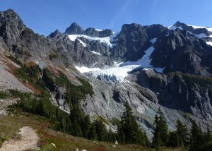 Upper and lower Curtis Glacier on Mount Shuksan . . .