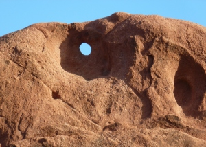 The Red Rock Canyon walls . . .