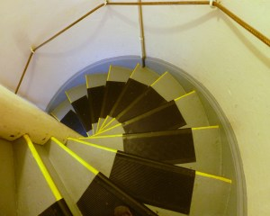 The stairs in the lighthouse