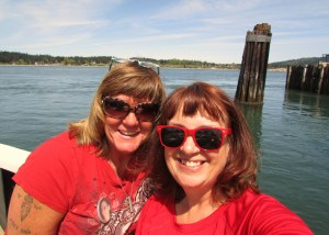Dena and I . . . on the Guemes Island ferry