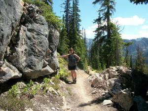(pic by Kent Doughty) Along the trail to Cutthroat Pass