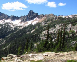 Cutthroat Peak . . . from the trail