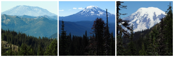 Mount Saint Helens --- Mount Adams -- Mount Ranier