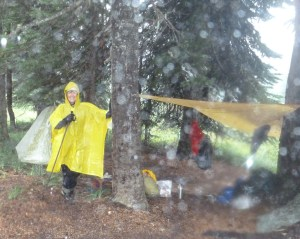 (pic by Kenton Doughty) Wet at camp
