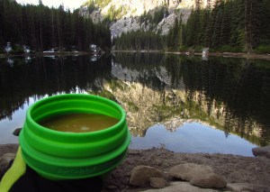 Morning coffee at Nada Lake