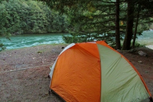 New tent at Gorge Lake